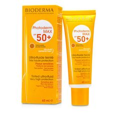 Bioderma Photoderm Max Very High Protection Tinted Ultra Fluid SPF50+ (Teinte Doree Golden Colour) - For Sensitive Skin 79085 40 ml/1.33oz - http://aromata24.gr/bioderma-photoderm-max-very-high-protection-tinted-ultra-fluid-spf50-teinte-doree-golden-colour-for-sensitive-skin-79085-40-ml1-33oz/