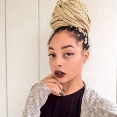 Protective Style | Blonde Braids