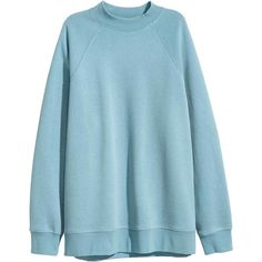 Sweatshirt with raglan sleeves ❤ liked on Polyvore featuring tops, hoodies, sweatshirts, raglan top, raglan sweatshirt, blue sweatshirt, ribbed top and blue top