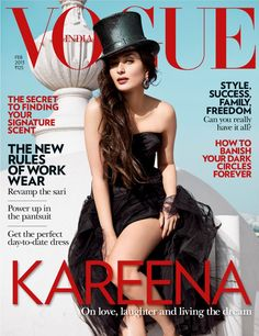 Kareena Kapoor covers the February 2013 issue of Vogue India in a look put together by Fashion Director Anaita Shroff Adajania. The Bollywood actor is photographed by Abhay Singh at the Taj Falaknuma Palace in Hyderabad. V Magazine, Vogue Magazine Covers, Vogue Covers, Bollywood Celebrities, Bollywood Fashion, Bollywood Actress, Bollywood Style, Indian Bollywood, Bollywood News