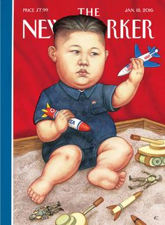 """""""As if everything else this past year weren't enough,"""" Anita Kunz says, """"now Kim Jong-un shows up again."""" New Yorker"""