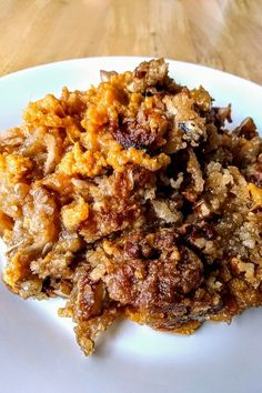 "Sweet Potato Streusel Casserole with Coconut | ""I didn't change a thing in this recipe and it is delicious. Very easy to make and a big hit for Thanksgiving."" #thanksgiving #thankgivingrecipes #thanksgivingsidedishes Traditional Thanksgiving Dinner, Thanksgiving Dinner Recipes, Thanksgiving Side Dishes, Holiday Recipes, Thanksgiving 2020, Fall Recipes, Sweet Potato Dishes, Sweet Potato Pecan, Sweet Potato Casserole"