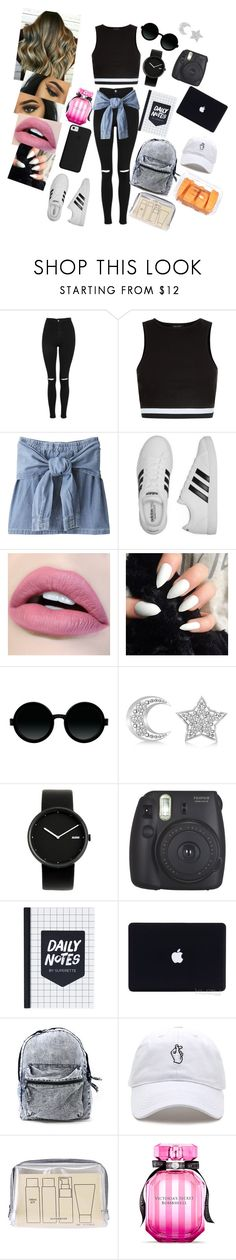 """His treasure #6"" by annaconley on Polyvore featuring Topshop, New Look, adidas, Moscot, Allurez, Alessi, Fujifilm, Muji and Victoria's Secret"