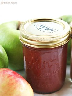 Apple Butter ~ Homemade apple butter recipe, complete with step-by step instructions. Apple butter spiced with cinnamon, cloves, allspice, and lemon. Great on toast! ~ SimplyRecipes.com
