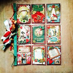 """Christmas Pocket Letter for a swap. The theme I picked was """"A Christmas Carol."""" @pocketletters #pocketletter #pocketletters #pocketletterpals #christmascrafts #christmas #christmas2015 #achristmascarol"""