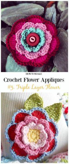 Crochet pretty flower crochet n create free crochet patterns crochet pretty flower crochet n create free crochet patterns pinterest pretty flowers flower patterns and spring time mightylinksfo