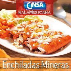 #Cinsa #CinsaALaMexicana #Recetas #Mexicanas #RecetasMexicanas #México #Comida #ComidaMexicana #peltre #MarcasMexicanas #EnchiladasMineras #Guanajuato