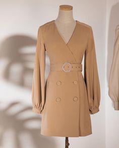 Beige Mini Dresses, Short Dresses, Tuxedo Dress, Cosplay Diy, Business Dresses, Everyday Dresses, Online Fashion Stores, Korean Fashion, Vintage Dresses