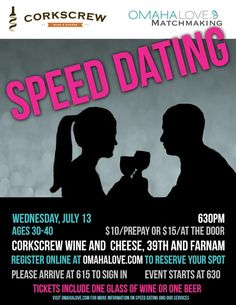 Are you between 30-40 years of age? Do you want to meet new people in a quick paced, exciting atmosphere? Join us for our next speed dating event!