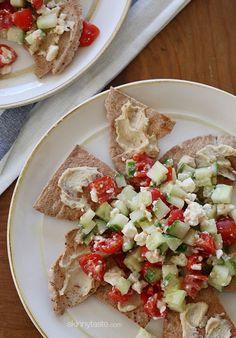 healthier Greek Nachos