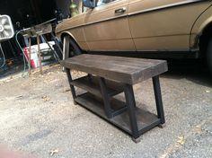 Custom Made Reclaimed Wood Storage Bench.