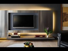 Two Taiwan Homes Take Beautiful Inspiration from Nature Living Room Tv Unit Designs, Wall Unit Designs, Wall Decor Design, Modern Tv Room, Modern Tv Wall Units, Home Room Design, Home Interior Design, Lcd Panel Design, Tv Wanddekor