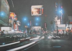 1966 Times Square At Night Cars NEON Billboards Vintage NYC new york city by Christian Montone, via Flickr