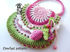 So cute. Make a cute change purse for cell phone and keys or a little purse for a little girl.