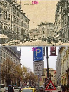 Praha v proměnách času VI. Czech Republic, Time Travel, Old Photos, Street View, Europe, Places, Beautiful, Prague, History