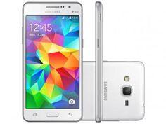"Smartphone Samsung Galaxy Gran Prime Duos TV 8GB - Branco Dual Chip 3G Câm. 8MP + Selfie 5MP Tela 5"""