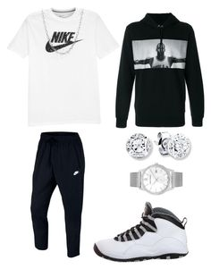 """Dope Outfits"" by sonictheincrediblefox on Polyvore featuring NIKE, David Yurman, Larsson & Jennings, men's fashion and menswear"