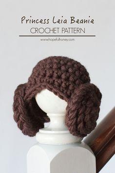 Princess Leia Inspired Baby Beanie - Free Crochet Pattern