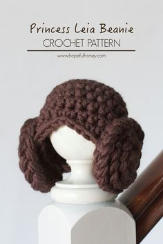 Princess Leia Inspired Baby Beanie - Free Crochet Pattern