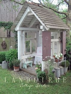 Shed Plans - Landliebe-Cottage-Garden: Sommerfreude - Now You Can Build ANY Shed. - Shed Plans – Landliebe-Cottage-Garden: Sommerfreude – Now You Can Build ANY Shed In A Weekend E - Farm Gardens, Small Gardens, Outdoor Gardens, Garden Cottage, Home And Garden, Garden Oasis, Garden Spaces, Greenhouse Plans, Shed Homes