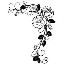 26 Trendy tattoo rose drawing coloring pages Colouring Pages, Adult Coloring Pages, Coloring Books, Stencil Patterns, Embroidery Patterns, Border Embroidery, Vine Drawing, Rose Drawing Tattoo, Stencils