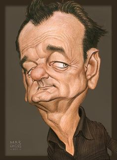 a Funny Celebrity Charicatures-Bill Murray