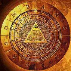 Boussole maçonnique avec symbole de l'Œil de la Providence.
