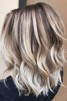 Frisuren schulterlang bob medium haarschnitte ideen. Hair Color Balayage, Blonde Balayage, Hair Highlights, Hair Colour, Balayage Diy, Ashy Blonde, Caramel Highlights, Caramel Color, Medium Blonde Hair