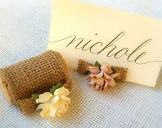 succulent bloom u0026 twine place card holder place card twine and lilacs