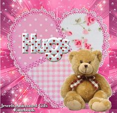 Thank you so much my dear Grace. Love you. Hugs And Kisses Quotes, Hug Quotes, Hug Pictures, Teddy Bear Pictures, Hug Images, Hug Gif, Hello Kitty My Melody, Good Night Gif, Love Hug
