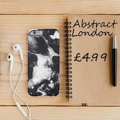 "Black and White Liquid Drop Design✔ Apple and Samsung Galaxy Model ✔£4.99 ✔WorldWide Shipping use discount code ""pinterest123"" to get 10% off at checkout"