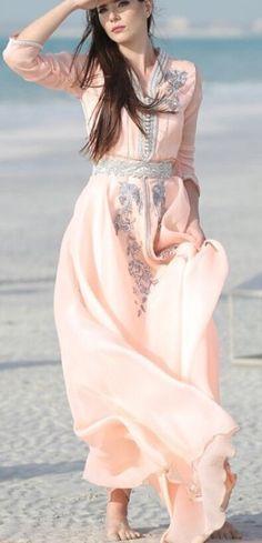Caftan soft pink