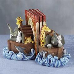 Noah ark book ends Noahs Ark Nursery, Moose Nursery, Nursery Twins, Nautical Nursery, Nursery Themes, Nursery Ideas, Theme Bedrooms, Room Ideas, Noahs Ark Party