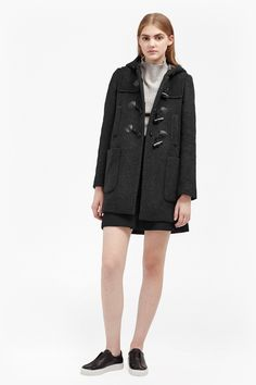 Teddy Check Hooded Duffle Coat | Jackets & Coats | French Connection