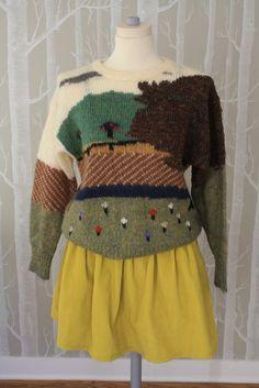 landscape, sweater