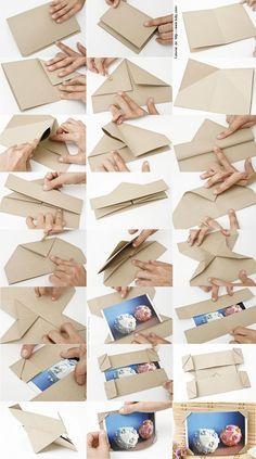 Passo-a-passo que fiz há muito tempo atrás, para uma revista de Origami. Parece que ganhou o mundo, encontrei aqui no Pinterest