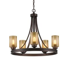 Golden Lighting Hidalgo Sovereign Bronze Rustic Tinted Glass Chandelier at Lowe's. In the Hidalgo collection, an unmistakable Spanish influence meets modern sensibilities for an ideal complement to the transitional home. Chandelier Ceiling Lights, Rustic Chandelier, Glass Chandelier, Hanging Lights, Chandeliers, Rustic Ceiling Light Fixtures, Farmhouse Chandelier, Bronze Chandelier, Lighting Store