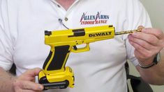 This isn't a DeWalt drill, guys. It only looks like a DeWalt drill! In real life it's a Glock Model 21.45 gun. A wolf in sheep's clothing… Uh, a handgun in power tool's hard plastic shell. It's perfect for the gangstaruction worker in your life.
