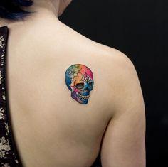 Colorful skull by Georgia Grey