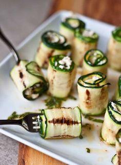 Zucchini Bites with Harissa