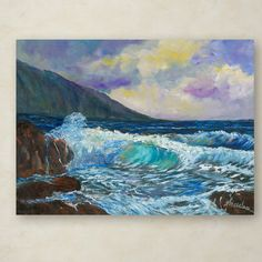 "Trademark Art ""Maui's Enchanting Seas"" by Manor Shadian Painting Print on Wrapped Canvas Size: 35"" H x 47"" W x 2"" D"