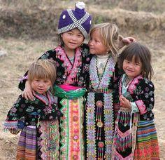 Beautiful Hmong children.