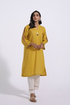 EMBROIDERED SHIRT (WTR311358) | ETHNIC