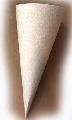 12x12 paper cone instructions