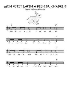 Téléchargez la partition gratuite de la chanson Mon petit lapin a bien du chagrin, Chanson traditionnelle française avec accords de guitare. Chanson traditionnelle Song Sheet, Sheet Music, How Did It Go, Clarinet, Teaching Music, Kids Songs, Piano Music, Cello, Music Notes