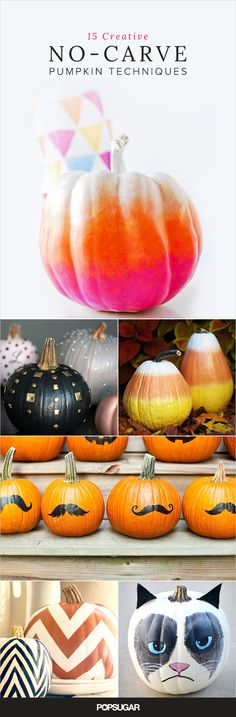 These gorgeous no-carve pumpkin ideas will make it much easier to explain to your kids that you're going knife-free this year.