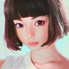 Tina Tamashiro portrait study by Ilya Kuvshinov