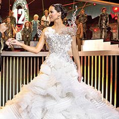 It may be set in a scifi film but that gown is gorgeous!