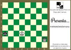 Mate en 2, blancas juegan y ganan. Un mate artístico creado por T. Kardos en 1971.
