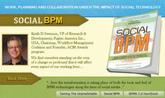 Today we see the transformation of both the look and feel of BPM technologies along the lines of social media, as well as the increasing adoption of social tools and techniques democratizing process development and design.  It is along these two trend lines; the evolution of system interfaces and the increased engagement of stakeholders in process improvement, that Social BPM has taken shape.